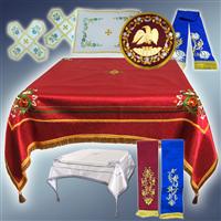 Покрівці, воздух, пелена на престол, орлець, закладка для Євангелії