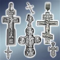 Хрест натільний, хрестик натільний, хрестик срібний, хрестик срібний з позолотою, хрестики срібні