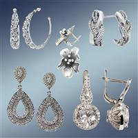 Сережки, сережки срібні, сережки срібні з позолотою, сережки золоті