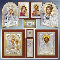 Ікони грецькі Silver Axion, грецькі ікони за цінами виробника, ікона грецька Silver Axion, ікона ручної роботи