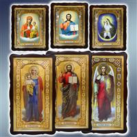 Ікона храмова у фігурному кіоті, ікони храмові у фігурних кіотах, ікони храмові поясні, ікони храмові ростові