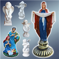 Садово-паркові фігури, фігури ангелів, фігура анлела, фігура Покрова, фігура ангелок, фігури храмові, фігури церковні