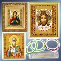 Вироби для вишивки і рукоділля, набори для вишивання ікон бісером, схеми для вишивання бысером, п
