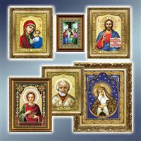 Вироби для вишивки і рукоділля, набори для вишивання ікон хрестиком