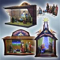 Вертеп, вертеп храмовий, вертеп різдвяний, вертеп для храму, фігури для вертепу, вертеп з підсвіткою