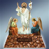 Воскресіння Христове, Воскресіння Христове з ангелами, хоругва Воскресіння Христове