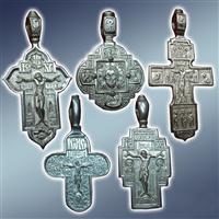 Хрест натільний, підвіска, хрестик натільний, метал пьютер, метал п