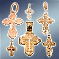 Хрест натільний золотий, хрестик натільний золото, хрестики натільні золоті