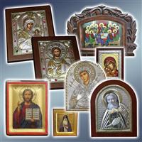 Ікони грецькі, грецькі ікони за цінами виробника, ікона грецька Silver Axion, ікона ручної роботи