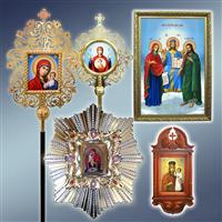 Аналойна ікона, запрестольна ікона, ікона Цар Слави, ікона спускна, ікона Почаївської Божої Матарі