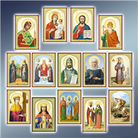 Ікона ламінована 58 х 84 мм, ікона літографія, ікона літографія ламінована, ікони ламіновані, ікони літографії ламіновані