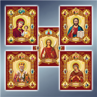 Ікони поліграфічні 147 х 180 мм (конгрев)