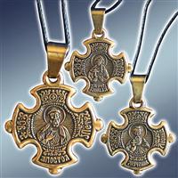 Натільні хрестики з іменними іконами