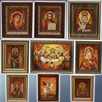 Ікони з бурштину