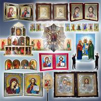 Ікони писані, ікони друковані, ікони ручної роботи, двійники, трійники, ікони грецькі, ікони вінчальні, пара ікон
