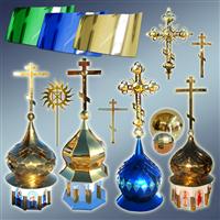 Купол, хрест купольний, хрест для купола, куля на хрест з куполом, метал купольний, метал для купола